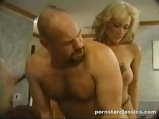 Bald Guy Fucks Babes and Gets Ass Fucked With Strapon